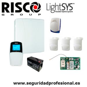 Kit-Risco-Lightsys2-+-bateria-+-sirena-interior-+-3-pir-interior-optex-+-modulo-gprs